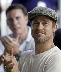 Brad Pitt rocking the flat cap