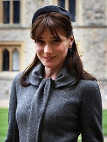 Carla Bruni-Sarkozy on a visit to Windsor Castle in 2008