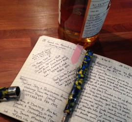 Pen, Notebook, & Whisky